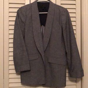 JCrew Unstructured blazer in cotton-linen